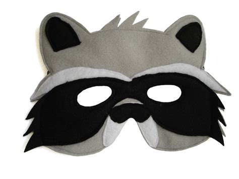 children s woodland animal raccoon felt mask