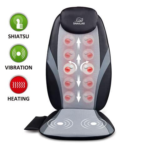 Chair Cushion Massager by Shiatsu Cushion With Heat Chair Pad Kneading Back