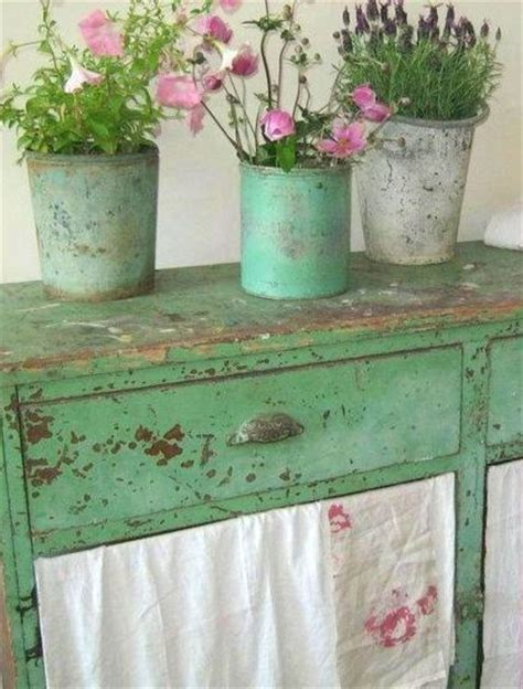 Shabby Green And Shabby Chic On Pinterest Shabby Chic Green Paint