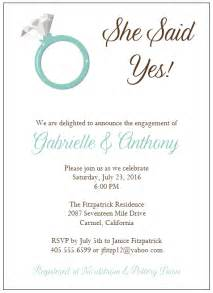 engagement invitation template best template collection