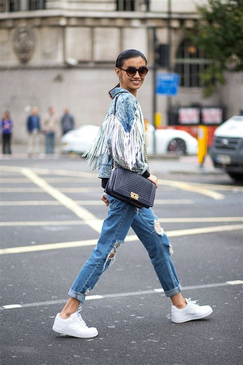 sneakers in style fringe denim jacket trends to try fringes