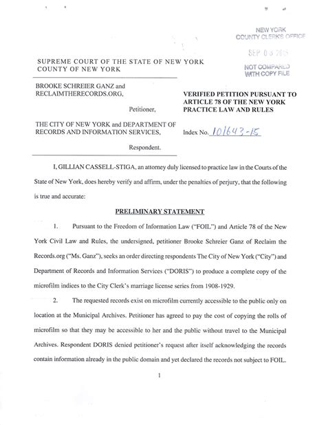 Ny State Divorce Records Records Request 01 Pilot Project Index To New York