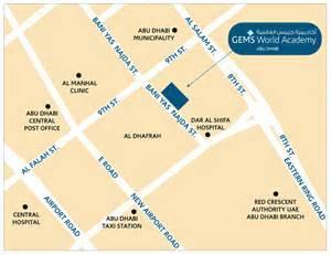World Abu Dhabi Location Map Gems World Academy Abu Dhabi