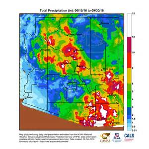arizona monsoon season precipitation maps