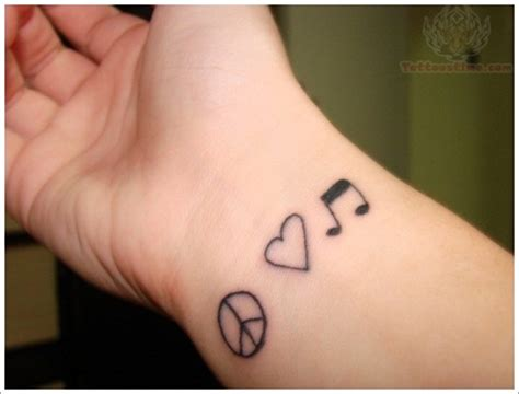 i love house music tattoo 30 wrist tattoo designs
