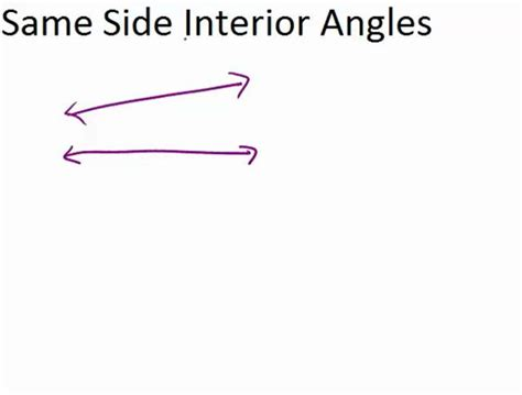 Same Side Interior Angles by Same Side Interior Angles Ck 12 Foundation