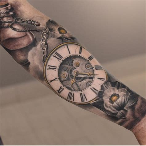 time clock tattoos clock best ideas gallery