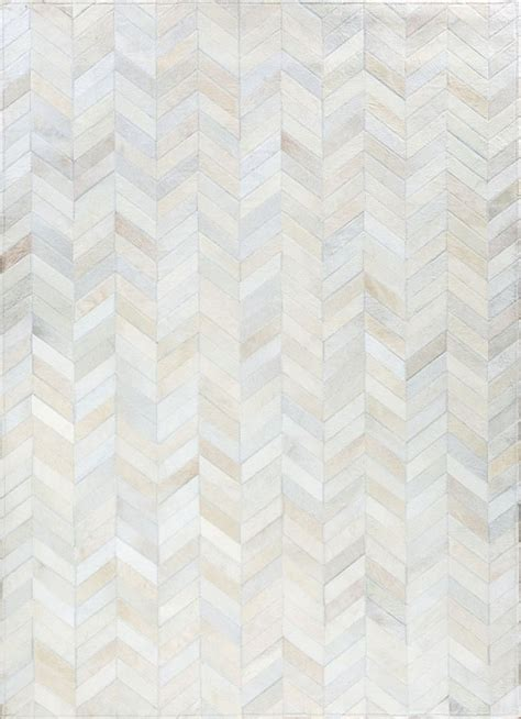 Luxury Cowhide Rugs Smoked Chevron By Mosaic Rugs Luxury Handcrafted Ivory