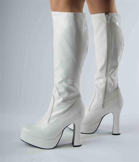 platform boots white patent size 11