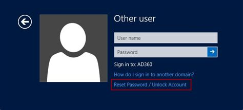 windows password reset self service password self service login agents reset password from