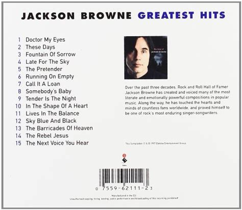 the best of jackson browne next voice you hear the best of jackson browne complete