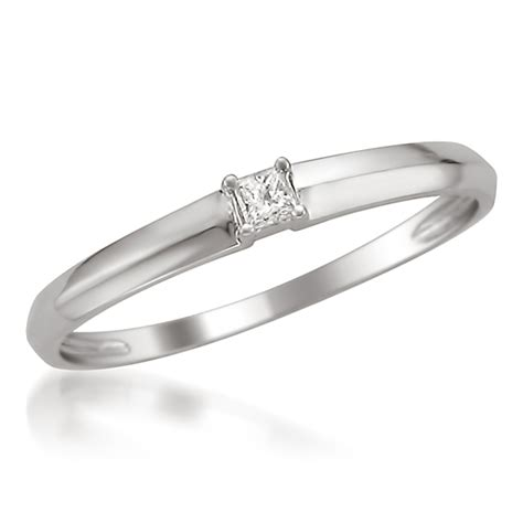 promise and engagement rings white gold