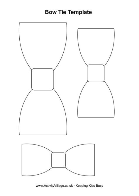 bow tie cut out pattern bow tie template index of baby