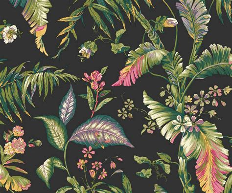 feel youre holiday home statement tropical wallpaper