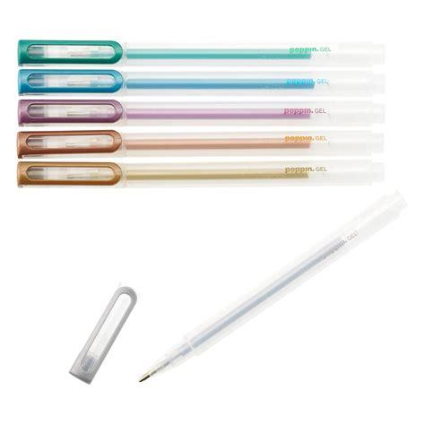 Metallic Gel Pen poppin metallic gel ink pens the container store