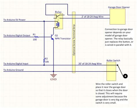 craftsman garage door opener wiring schematic tub