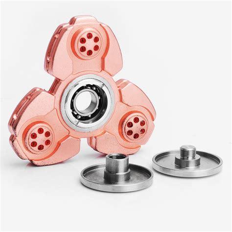 Fidget Spinner Spinner Metal Segi 3 Kaki Bearing copper zinc alloy tri spinner fidget spinner focus edc