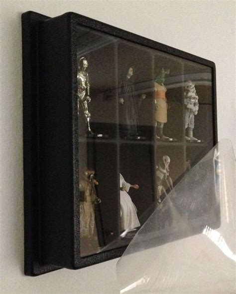6 figure display figure display dust cover wall mount wars