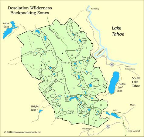 desolation wilderness map desolation wilderness permits