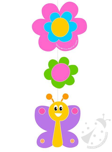 fiori decorazioni decorazioni di primavera farfalla e fiori di carta