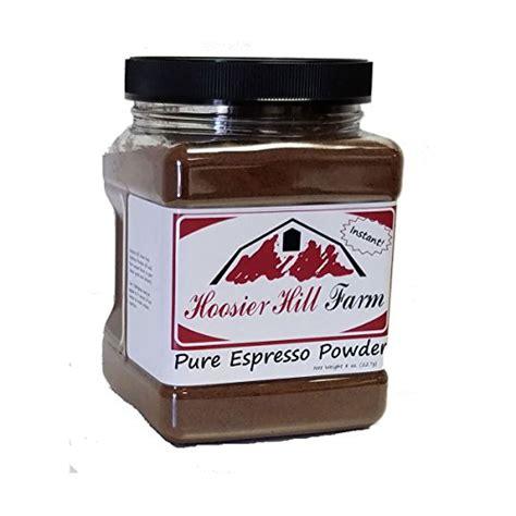 pure espresso powder 8 oz hoosier hill farm food beverages tobacco food items cooking