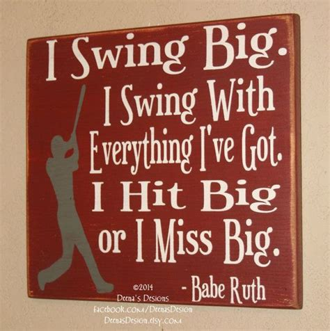 swing away signs quote baseball decor baseball sign baseball quote wooden