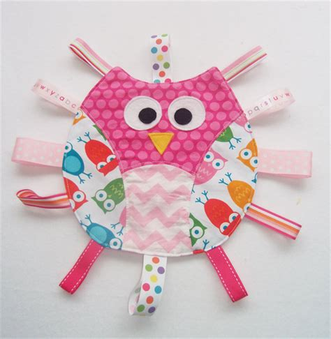 Owl Play Time owl taggie various patterns to choose from pleats