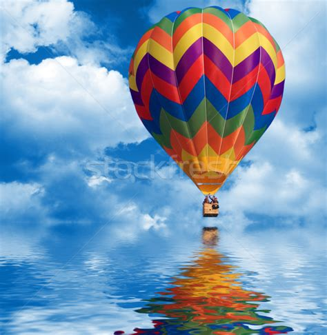 sky background and air balloon stock photo 169 gualtiero
