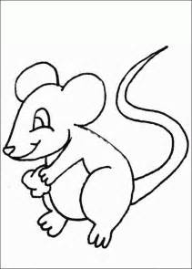 free coloring pages of mouse to paint