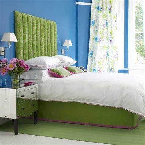 vibrant blue  green bedroom housetohomecouk