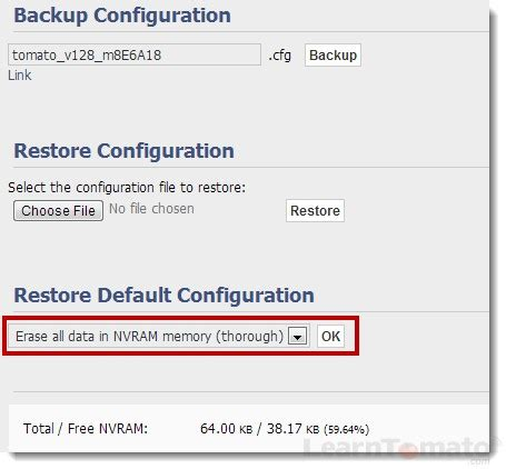 reset nvram open firmware how to setup a router powered by tomato firmware