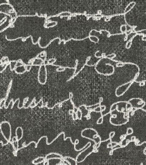 script upholstery fabric ellen degeneres upholstery fabric charcoal love script