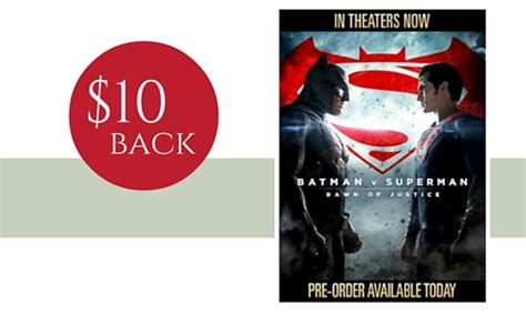 Gift Card Jungle - 10 gift card back with movie pre order jungle book or batman southern savers