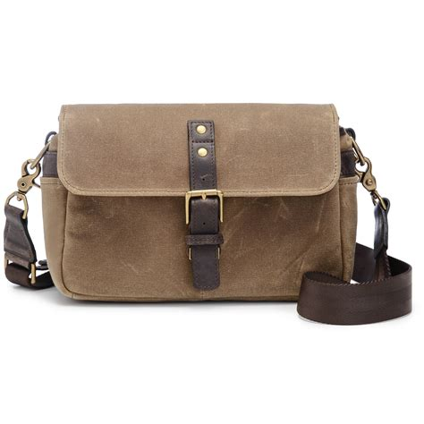 ona bowery camera bag canvas field tan ona5 014rt b h photo