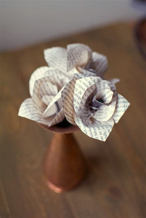 How To Make Book Paper Flowers - lasting charm diy paper flowers for your home