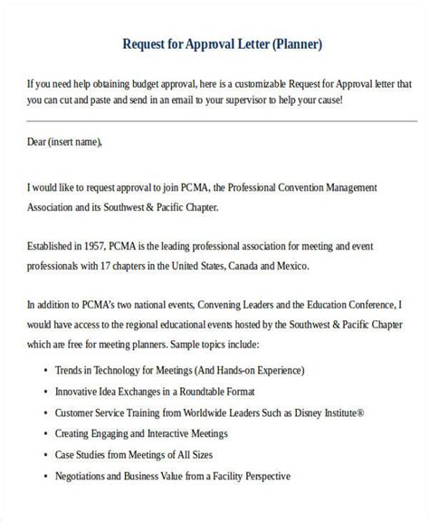 business letter approval request 30 formal request letters sle templates