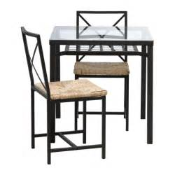 Table and 2 chairs ikea you can store anything from magazines to table