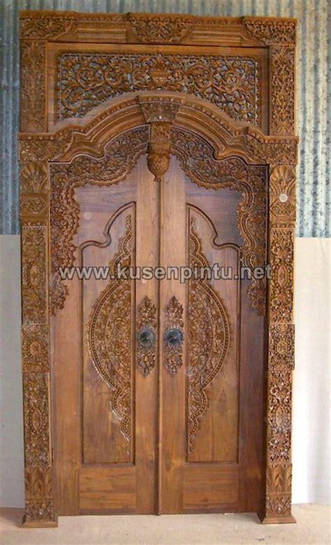 Kusen Pintu Model Gebyog Antik Jati Jepara model kusen pintu gebyok ukiran jati jepara kpg 287
