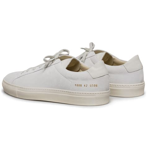 by common projects sneakers common projects achilles suede low top sneakers in white