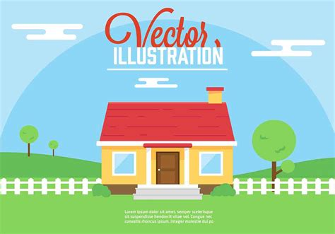 free vector house illustration free vector