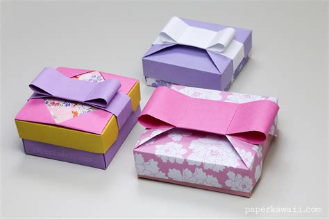 Origami Gift Boxes - origami gift box mix match lids paper kawaii