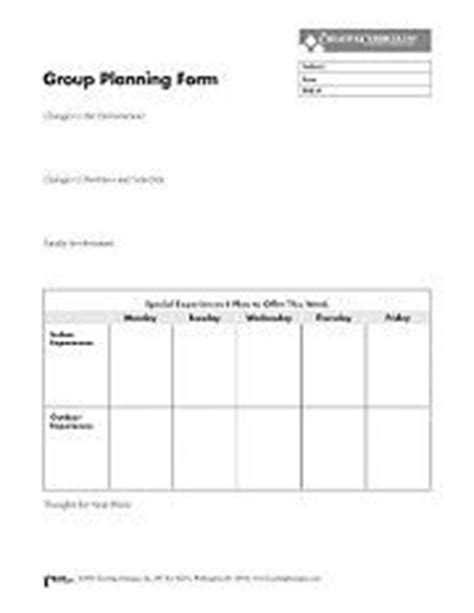 creative curriculum weekly planning form template the creative curriculum toolkit for infants toddlers twos
