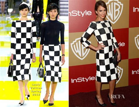Bros Lv Fashion Im alba in louis vuitton warner bros and instyle golden globe awards after