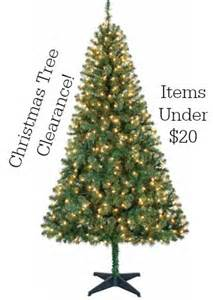 walmart christmas tree clearance items under 20