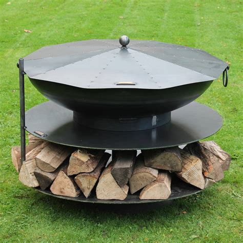 metal pits ring of logs steel firepit by firepits uk