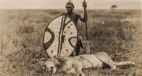 how to hunt with a spear maasai hunt with shown in vintage footage