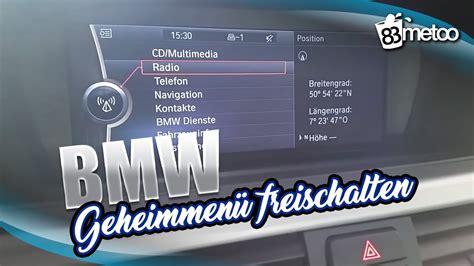 Bmw 1er Reifendruck Reset by Bmw Cic Service Men 252 Geheimmen 252 Freischalten Youtube