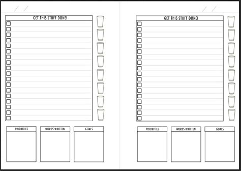 printable planner word a5 planner sheet daily to do list w word count goals