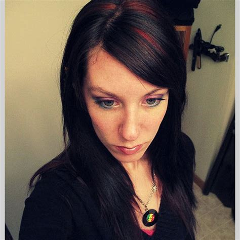 pictures of streaked black hairstyles hair on pinterest medium hair cuts red highlights and
