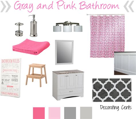 gray and pink bathroom decorating cents gray and pink girls bathroom